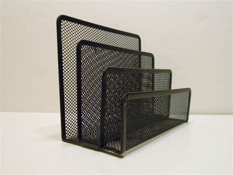 Metal Desk Organizers High Quality Metal Desk Organizer Letter Holder Paper Holder Etc Black Color Ebay