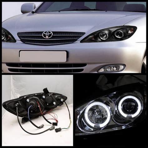 2002 Toyota Camry Headlight 2002 2006 Toyota Camry Black Housing Led Halo