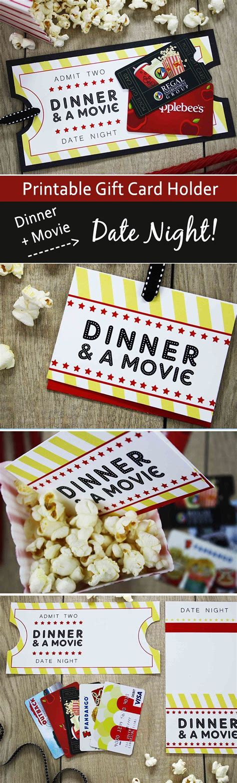 Dinner And A Movie Gift Cards - 17 best ideas about movie gift on pinterest preschool christmas gifts for classmates teacher