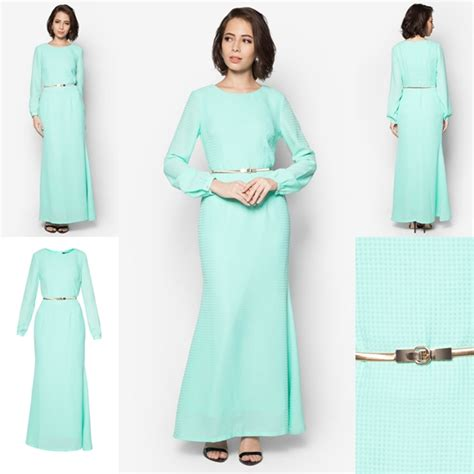 Baju Kurung Style Terkini baju jubah moden minimalis baju raya 2016 fesyen trend terkini fesyen trend terkini