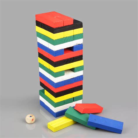 Mainan Wooden Uno Stacko wiss uno stacko wooden blocks elevenia