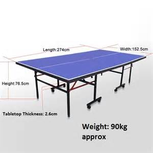 dimensions of ping pong table vic up 25mm pro tournament size table tennis ping