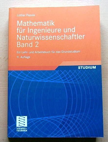 Mathematik F 252 R Ingenieure Und Naturwissenschaftler Band 2
