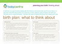 Cesarean Birth Plan Template by C Section Birth Plan Exles