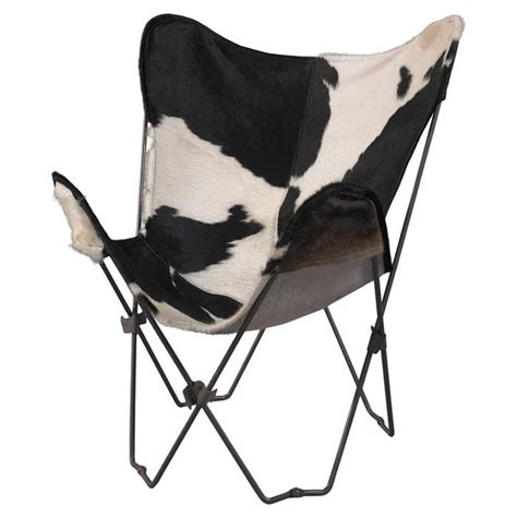 Cowhide Butterfly Chair lola cowhide butterfly chair home