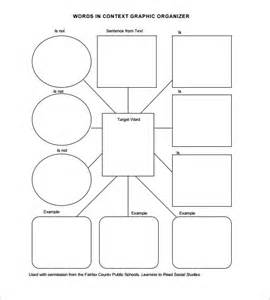 graphic organizers template word 8 blank vocabulary worksheet templates free word pdf