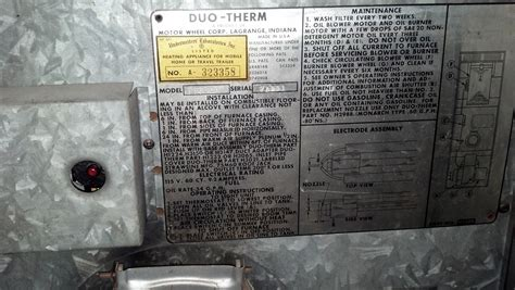Small Mobile Home Furnace I Purchased A Mobile Home Built In 1969 It Has A Duo Therm