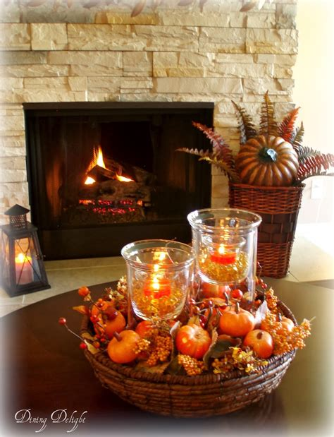 table centerpieces dining delight fall coffee table centerpiece