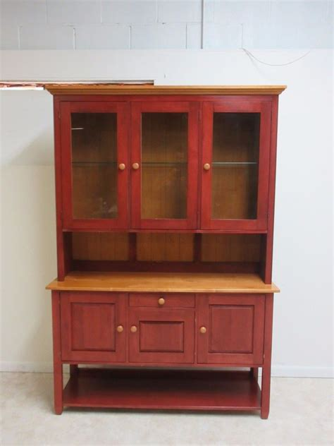 Country China Cabinet Hutch by Ethan Allen Country Colors China Cabinet Hutch Display