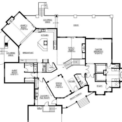 Country Style Floor Plans open concept floor plan ideas the plan collection