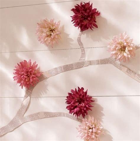 Blumen Wand Selber Machen wanddeko selber machen aus zeitung und blumen freshouse