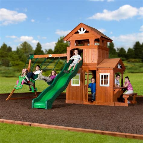 shenandoah swing set by backyard discovery family leisure
