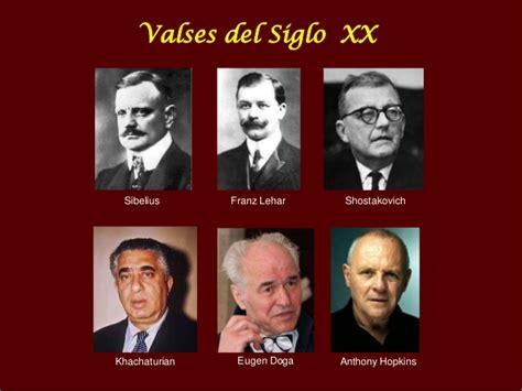 imagenes figurativas y sus autores los valses del siglo xx y sus compositores