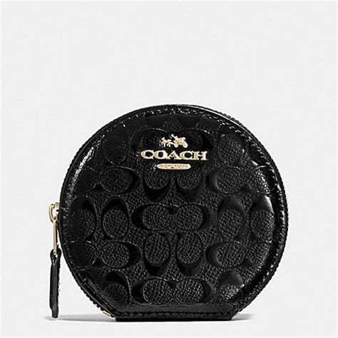 Coincase Small And Large coach f54840 coin in signature debossed
