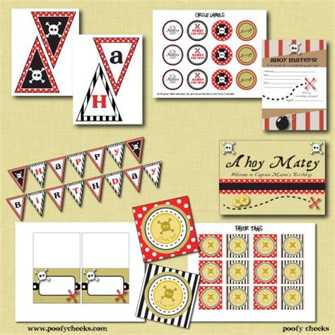 printable pirate birthday decorations free pirate party printables fiesta pirata pinterest