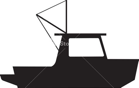 fishing boat silhouette clip art fishing boat silhouette royalty free stock image storyblocks