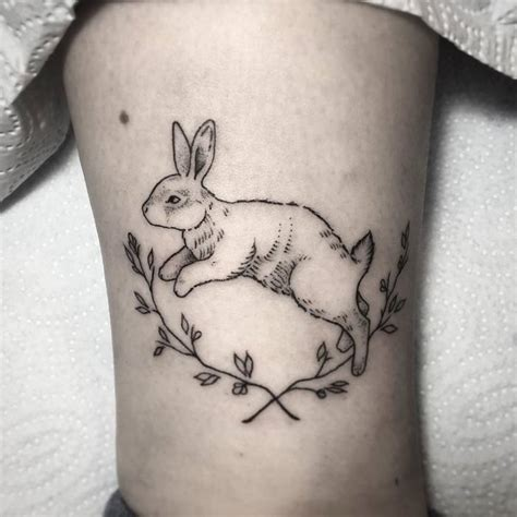 nard dog tattoo 40 adorable rabbit design ideas tattoobloq