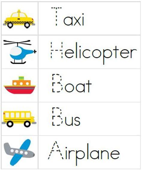 Education Card Transportation printable transportation worksheets for kindergarten 1000 images about transportation lesson