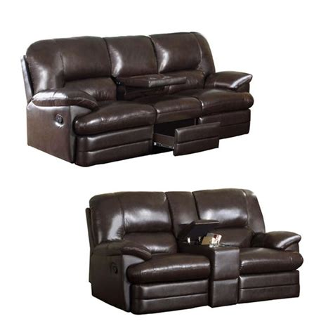 Italian Leather Sofa And Loveseat by Coney Coffee Italian Leather Reclining Sofa And Loveseat