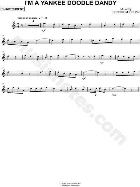 free yankee doodle instrumental quot i m a yankee doodle dandy bb instrument quot from yankee