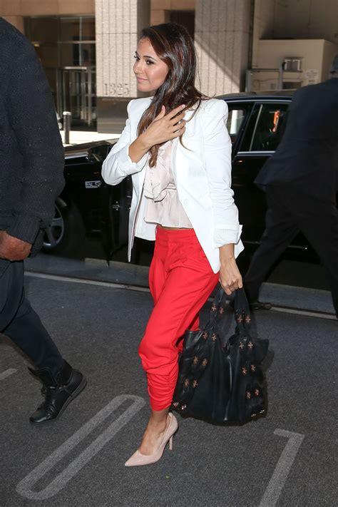 Style Emmanuelle Chriqui emmanuelle chriqui style arriving at hotel in new