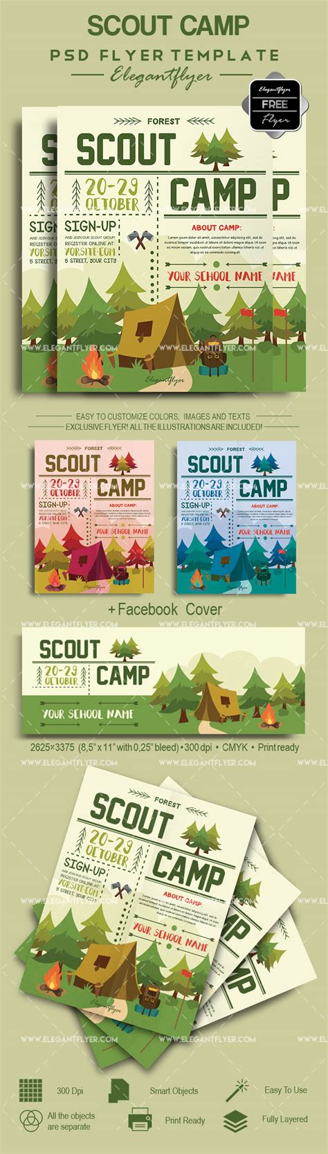 Scout C Free Flyer Psd Template By Elegantflyer Scout Flyer Template
