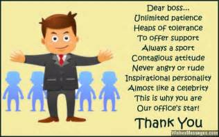 Thank You Letter To Wonderful Boss Thank You Notes For Boss Messages And Quotes To Say