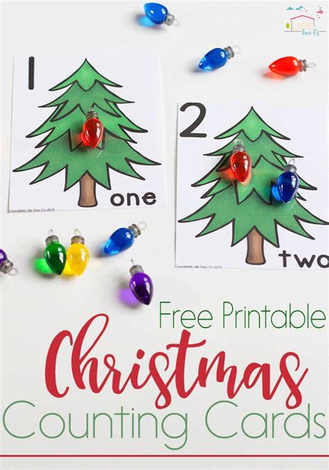 printable christmas number cards christmas lights counting cards numbers 1 10 life over cs