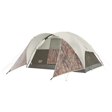 coleman tent awning coleman evanston realtree xtra 4 person tent with window