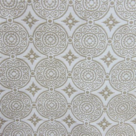 medallion upholstery fabric cream white woven outdoor designer upholstery fabric