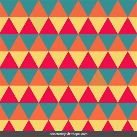 Pattern Triangle Download | vintage pattern made with triangles vector free download
