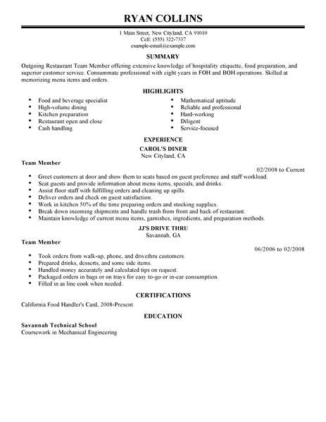 Barback Resume Sle by Sle Restaurant Resume Salary Increase Notification Letter Exles Of Resumes Cv Resume
