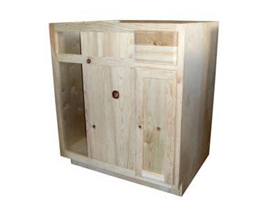 unfinished blind base cabinet shop 36 quot unfinished pine blind base cabinet at mccoy s