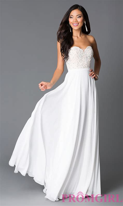 Dress White The prom dresses evening gowns promgirl