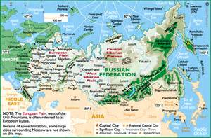 map of russia with cities rivers and mountains russia map map