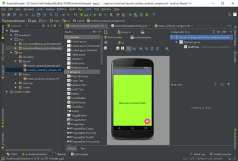 themes android studio a tour of the android studio user interface android 6