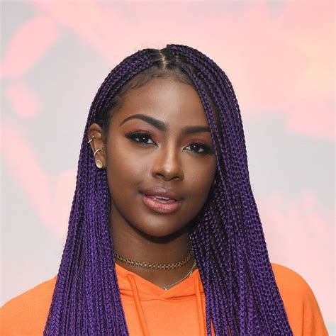 faux locs in southern california justine skye s best purple hair moments glendale
