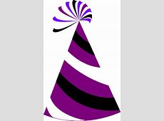 Purple And White Party Hat Clip Art at Clker.com - vector ... Free Clip Art Santa And Reindeer