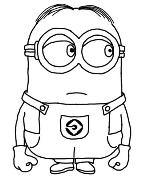 imagenes de minions en la escuela dibujo para colorear del personaje mark de los minions