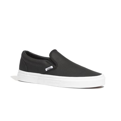 Perforated Slip Ons madewell vans 174 classic slip ons in perforated leather in