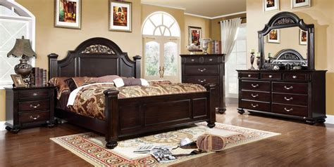 traditional bedroom furniture dark walnut bedroom set syracuse bedroom set shop