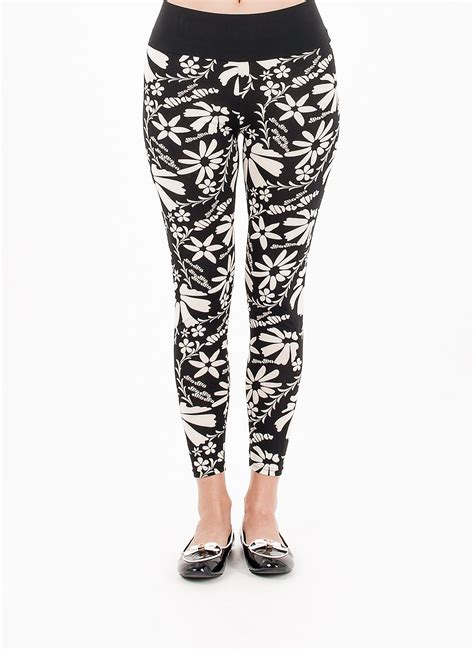 white patterned tights black and white patterned leggings black floral leggings