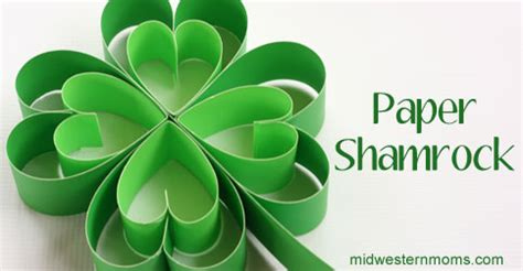 How To Make Paper Shamrocks - how to make a paper shamrock