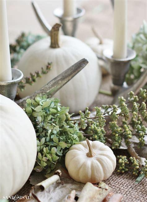Christmas Home Decor Pinterest white pumpkin centerpiece sand and sisal