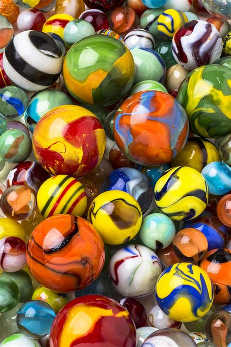 Colored Duvet Covers Colorful Glass Marbles Photograph By Garry
