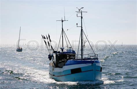 fishing boat jobs denmark fishing vessel returning from the sea denmark stock