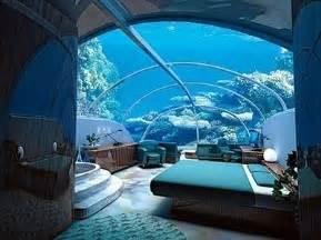 aquarium bed bedroom blue coral marine image 61132