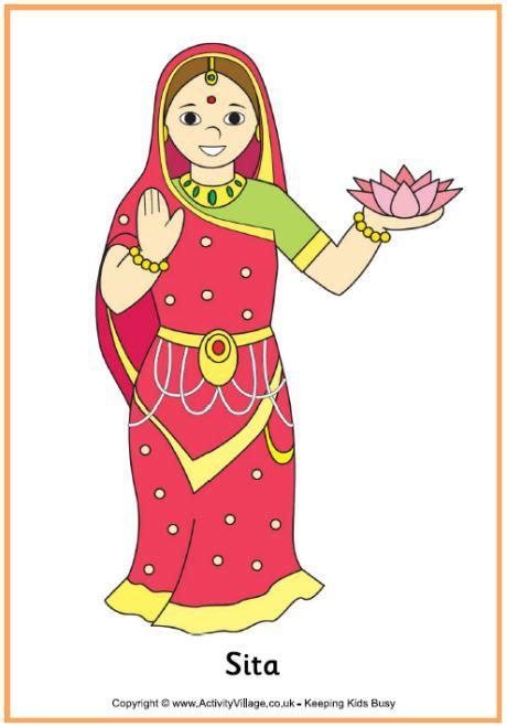 diwali puppets templates sita poster printable diwali printables for
