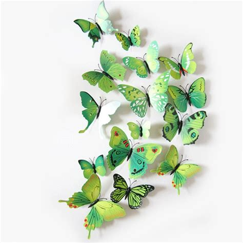 3d Decoration Butterfly Magnet 3d pvc magnet butterflies wall sticker home decor
