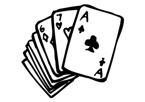 Free Coloring Pages Of Playing Cards Cards Coloring Pages